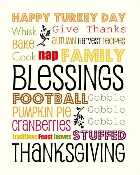 Thanksgiving Free Printable Sign