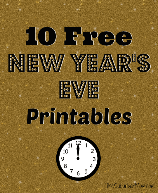 10 free new years eve printables