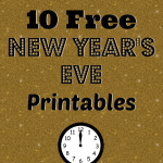 10 New Year's Eve Free Printables ~ Signs, Tags, Activity Pages, Props & More