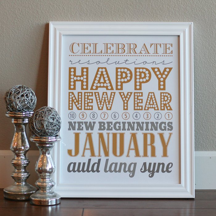 New Years Eve Free Printable Sign