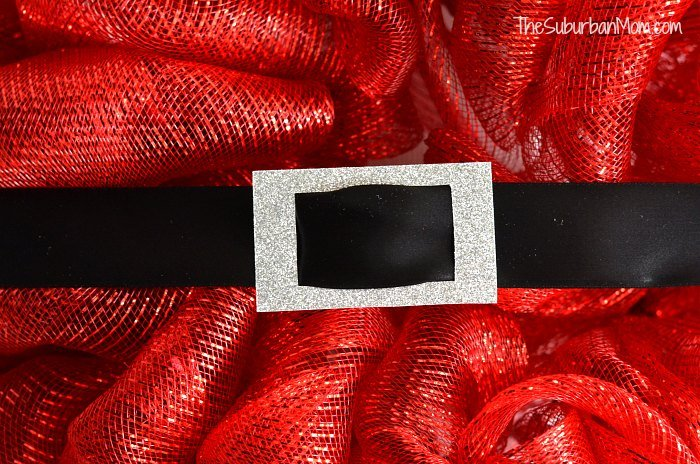 Santa Wreath Deco Mesh
