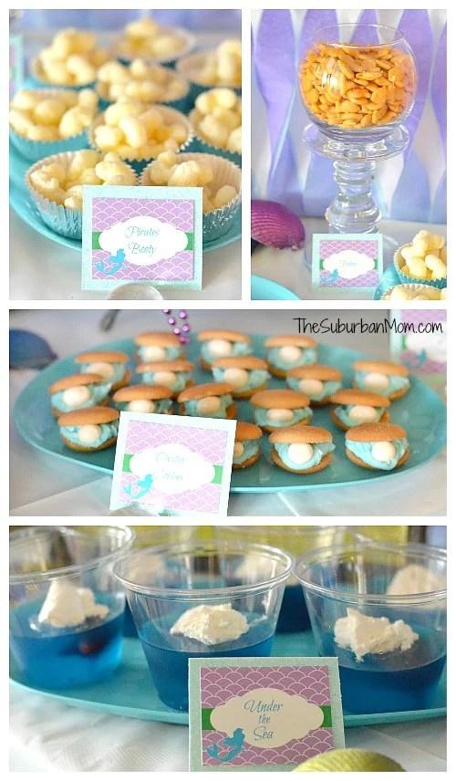 Little Mermaid Birthday Party Food