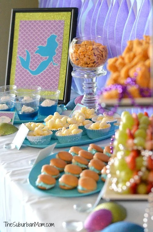 The Little Mermaid Ariel Birthday Party Ideas Food Crafts More