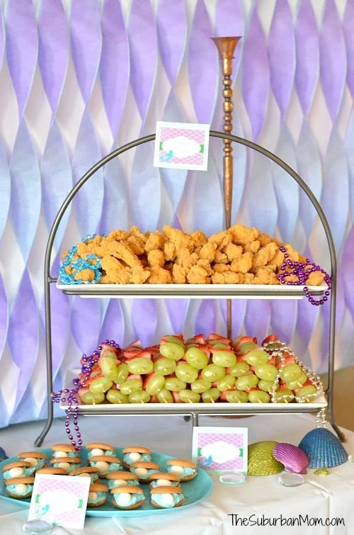 Little Mermaid Party Themed Food