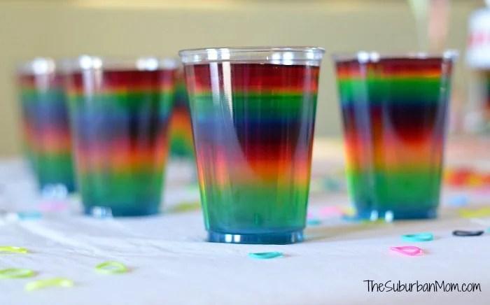 Rainbow Jello Cups