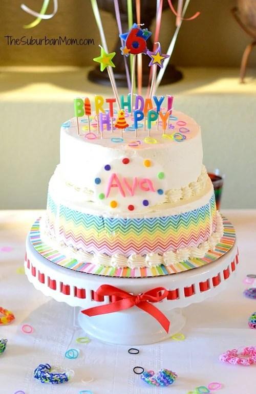 Rainbow Loom Birthday Cake