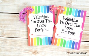 Rainbow Loom Valentine's Day Card