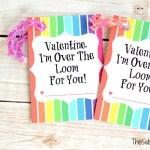 Rainbow Loom Valentine's Day Card