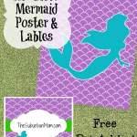 Little Mermaid Poster Labels Free Printables