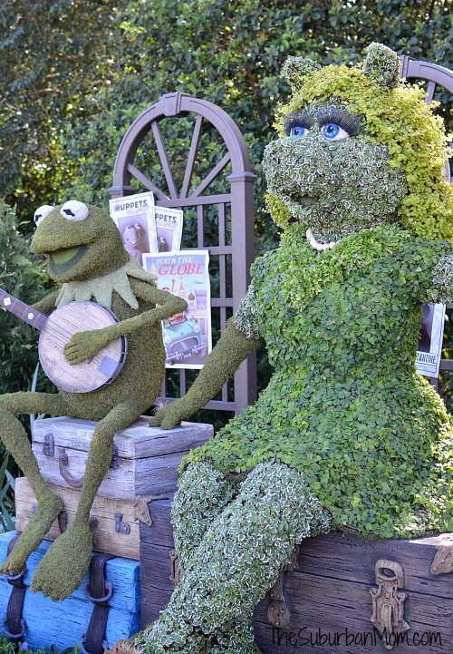 Flower Garden Kermit Miss Piggy