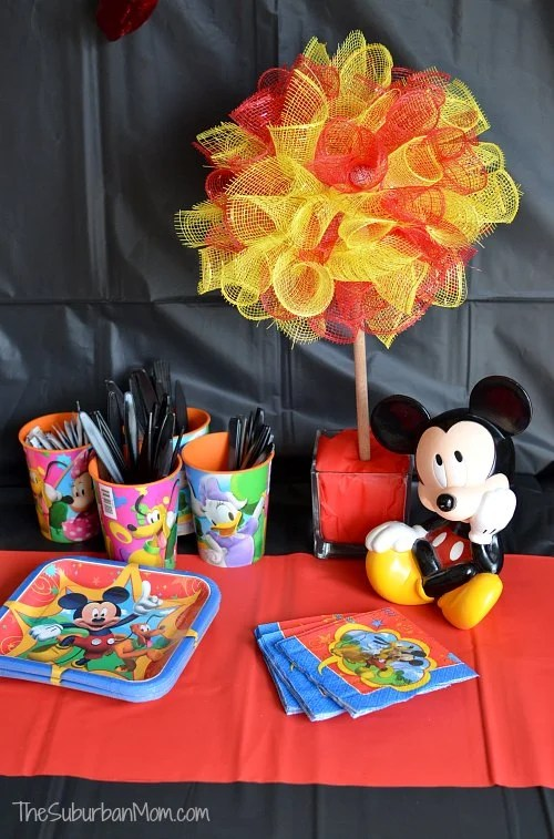 Mickey Mouse Party DIY Topiary