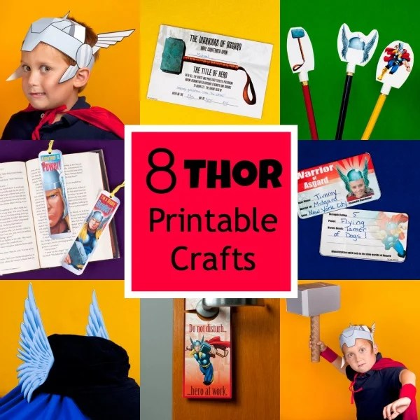 Thor Printable Crafts