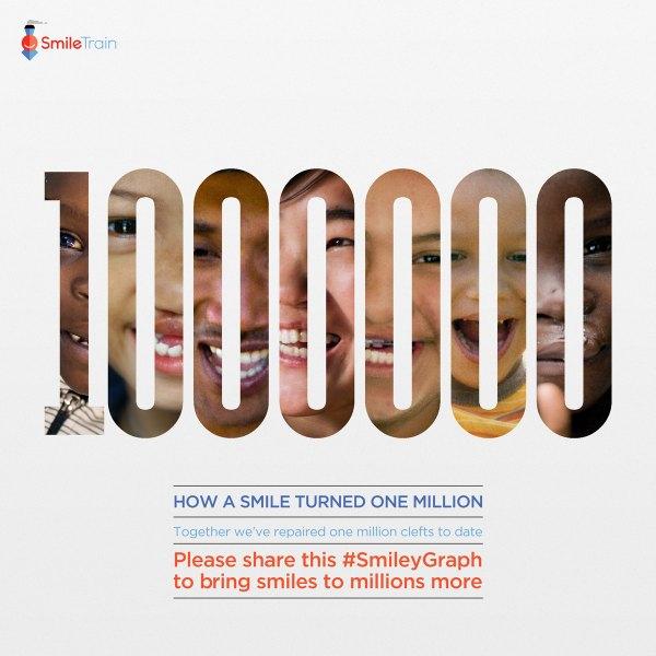 Smile Train 1 million smiles