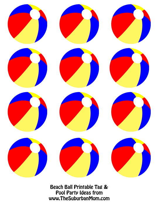 photo regarding Beach Ball Printable known as 5 Pointers For Your Up coming Pool Get together + Totally free Seaside Ball Printable