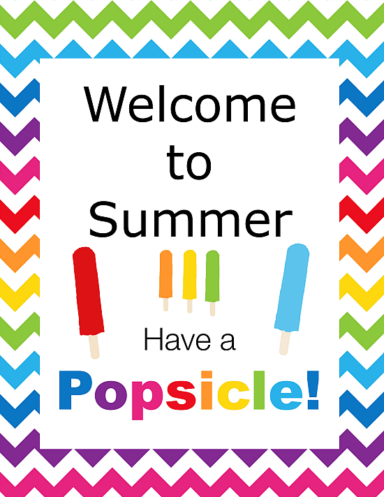Summer Popsicle Party Printable