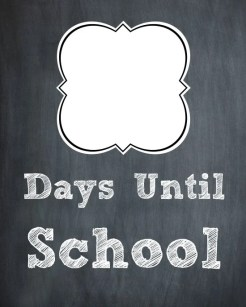 Chalk Board First Day of School Countdown 1
