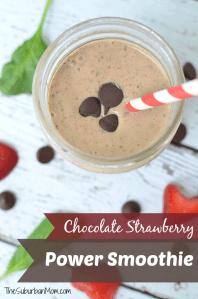Chocolate Strawberry Power Smoothie Recipe