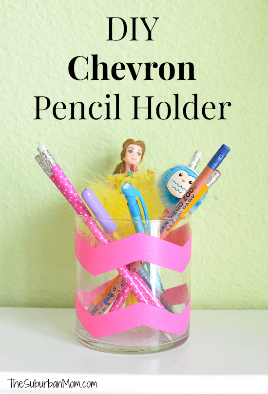 DIY Chevron Pencil Holder