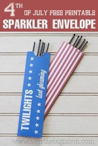 Free Printable Sparkler Envelope Free Printable