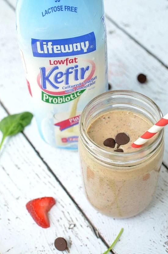 Kefir Probiotic Chocolate Power Smoothie