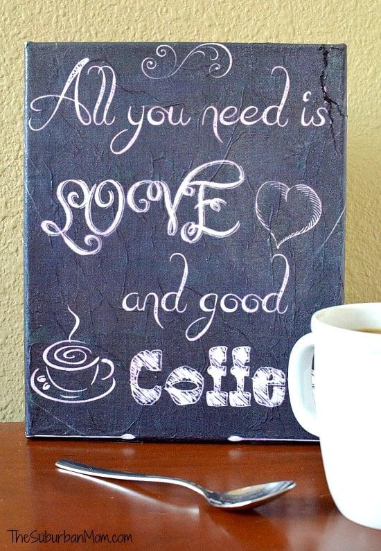 DIY Coffee Canvas Sign