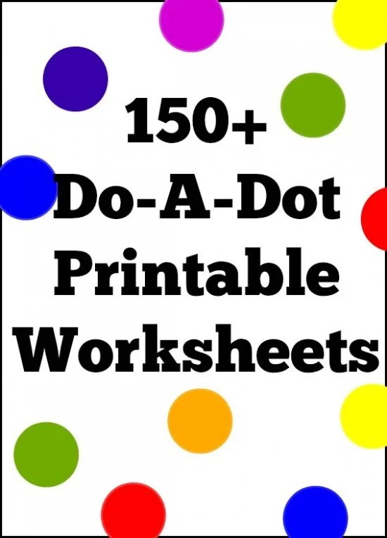 150 Do A Dot Printable Worksheet Coloring Pages For Preschool