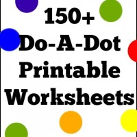 150+ Do-A-Dot Printable Worksheet Coloring Pages For Preschool