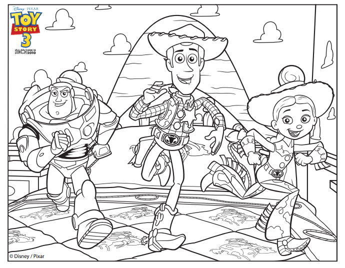 Jessie And Woody Drawing