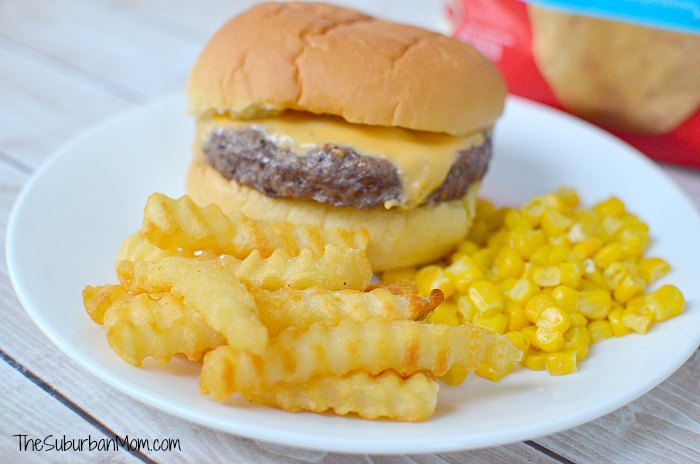 Ore Ida Golden Crinkles French Fries Burger