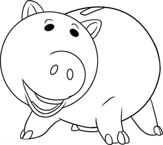 Toy Story Coloring Pages Hamm
