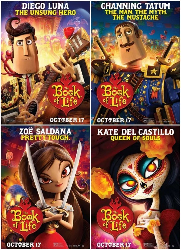 Book Of Life Character Posters