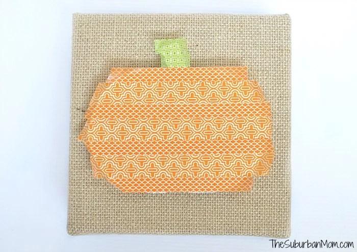 Pumpkin Washi Tape Craft