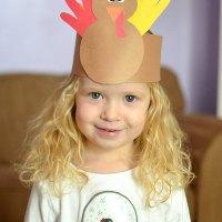 Thanksgiving Kids Craft: Handprint Turkey Crown