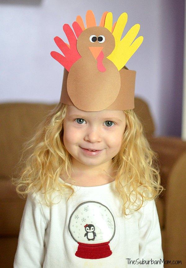 Thanksgiving Kids Craft Turkey Crown
