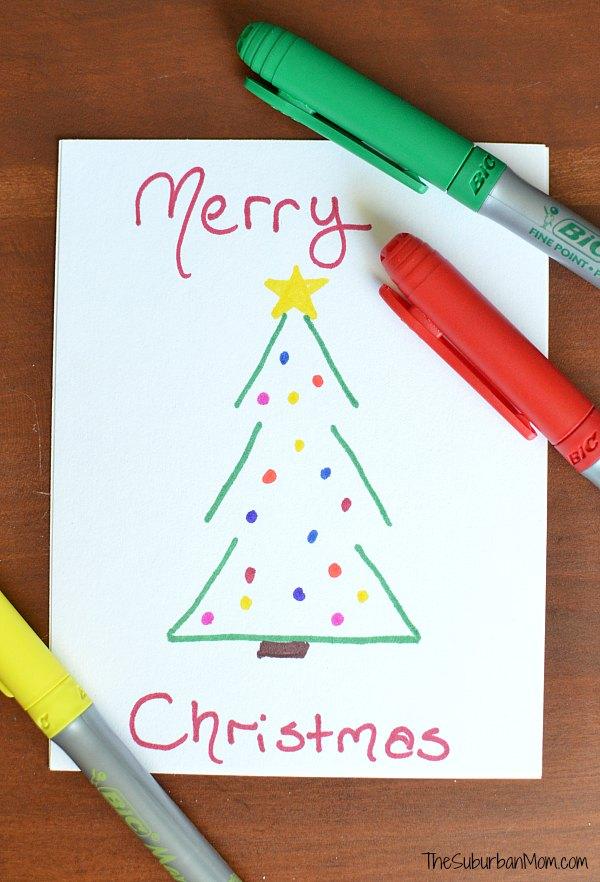 Handmade Christmas Postcard