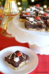 M&M's Black & White Peppermint Brownies