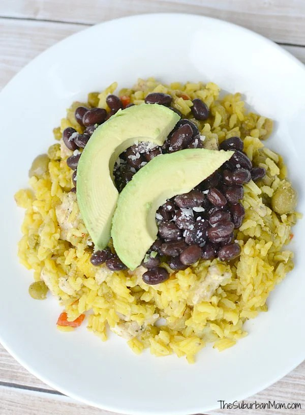 Yellow Rice and Chicken Black Beans