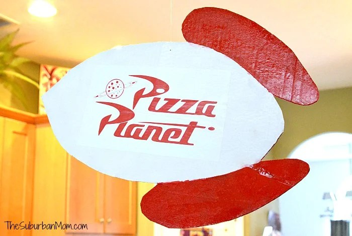 DIY Pizza Planet Sign