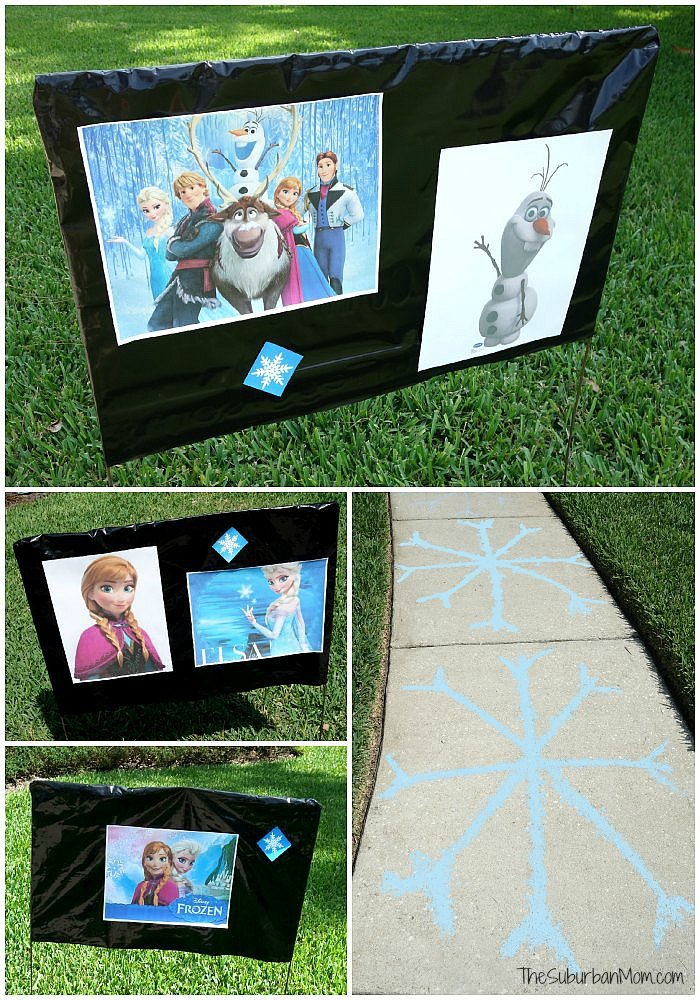 Frozen Birthday Party Decorations Outside