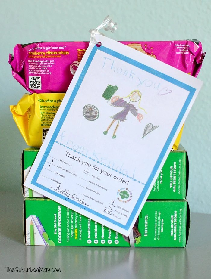 photograph relating to Girl Scout Cookie Thank You Note Printable referred to as Woman Scout Cookies Thank Yourself Notes Absolutely free Printable