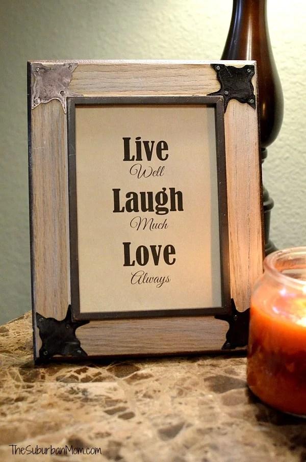 Life Laugh Love Printable Quote