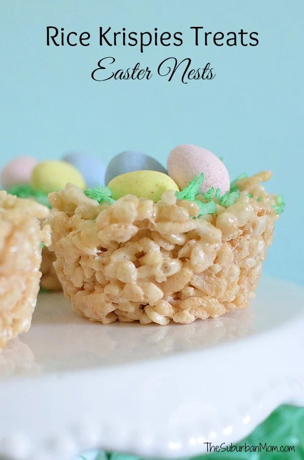 Rice Krispies Treats Easter Nests