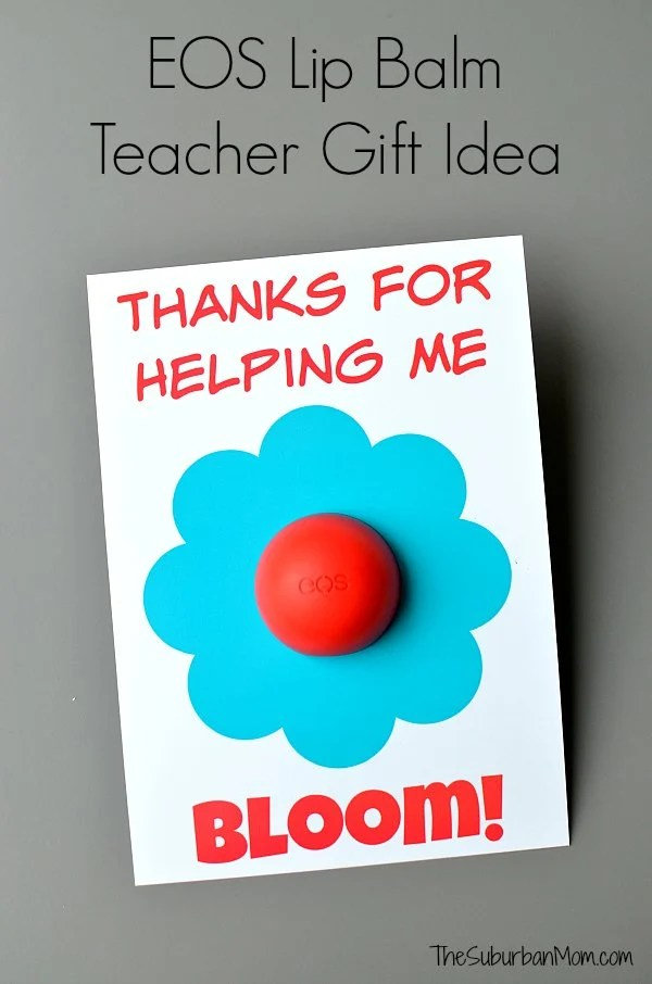 photograph about Thanks for Helping Me Bloom Printable titled EOS Lip Balm Instructor Appreciation Present Printable