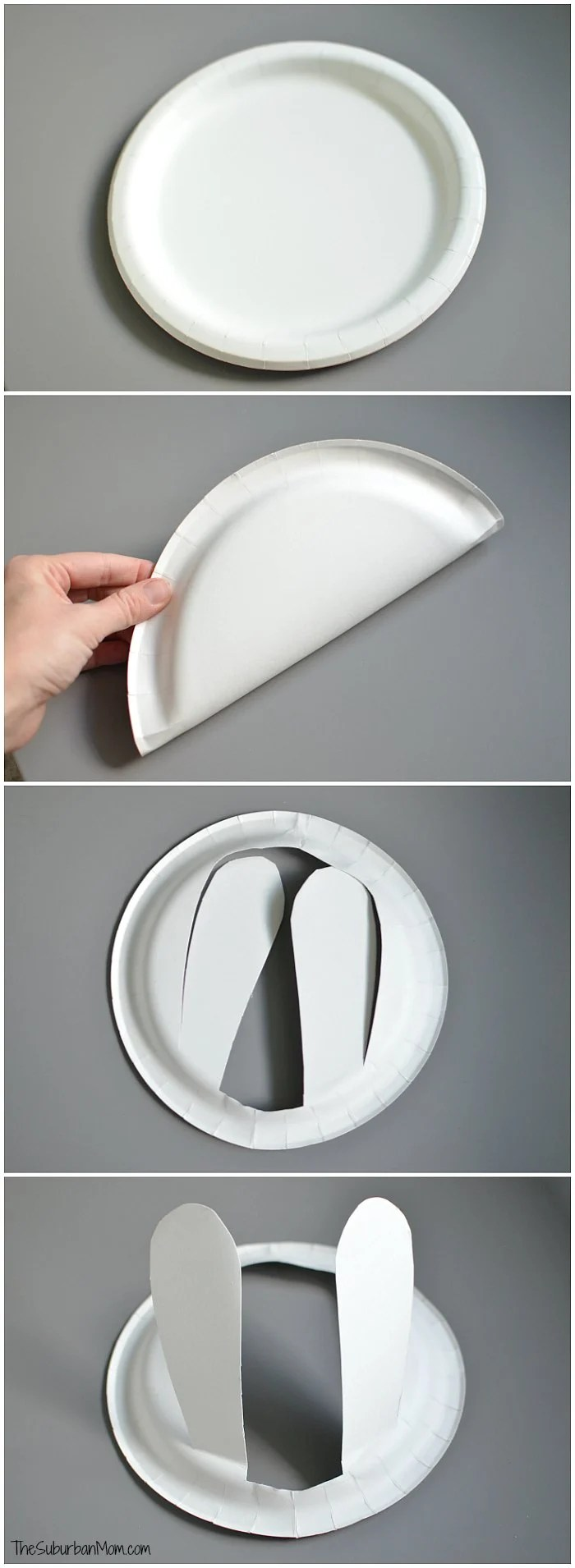 Paper Plate Easter Bunny Ears