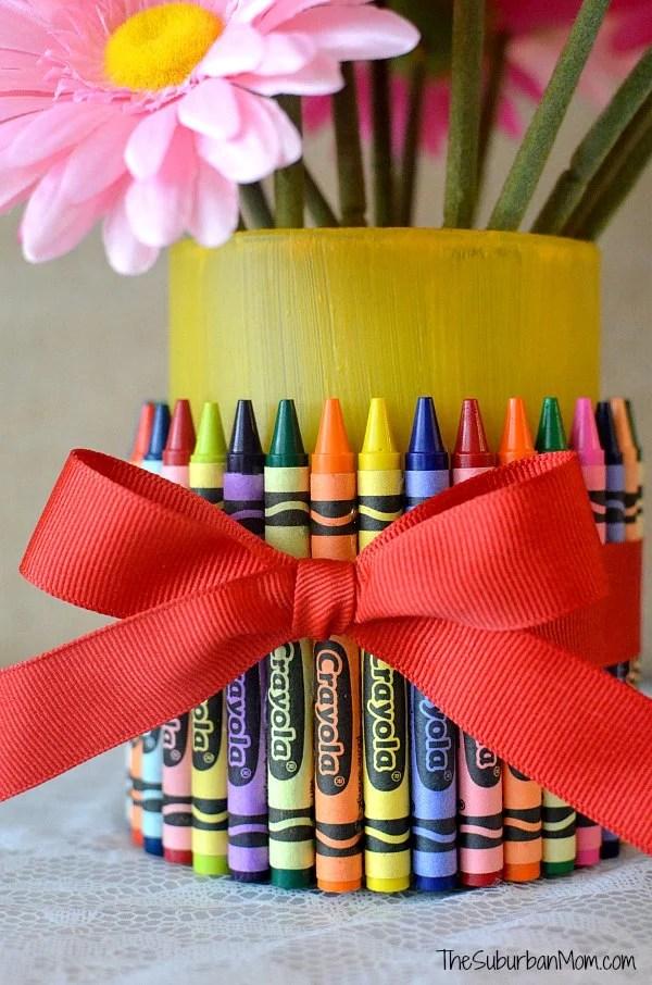Teacher Gift Crayon Vase