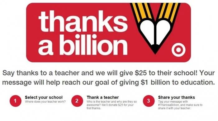 Target Thanks a Billion