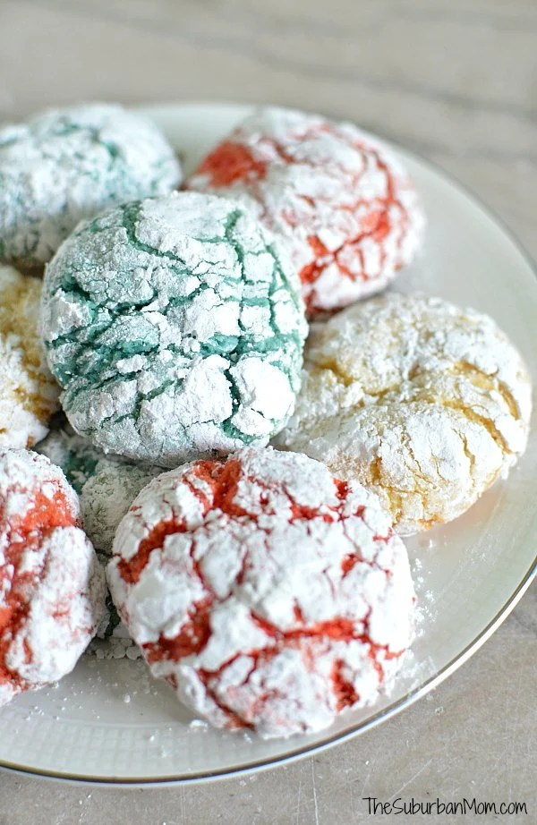 Red White Blue Crackle Cookies