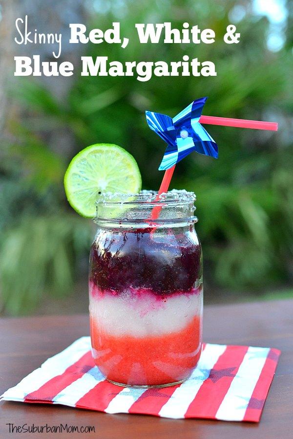 Skinny Red White and Blue Margarita
