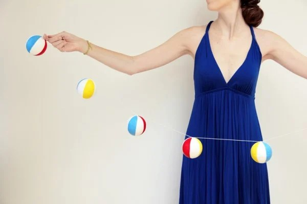 Beach Ball Garland