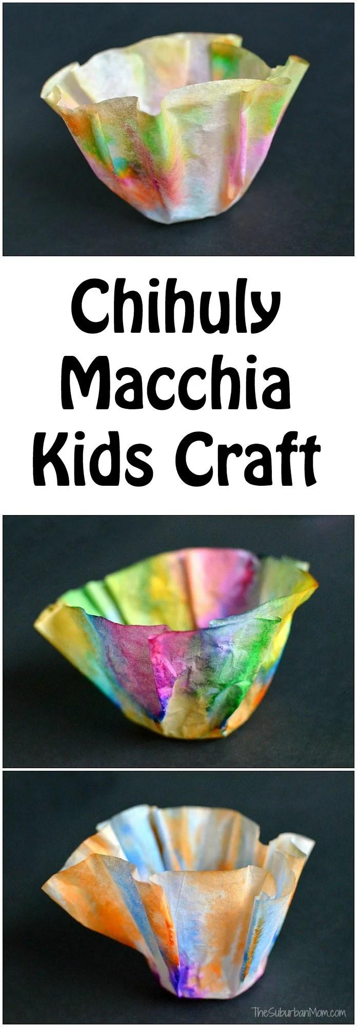 Chihuly Macchia Kids Craft